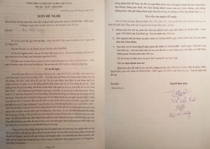 Tải mẫu đơn đề nghị xem xét theo thủ tục giám đốc thẩm