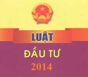 Tải Luật Đầu tư 2014