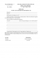 Tải mẫu thông báo về yêu cầu làm lại hoặc sửa đổi bổ sung đơn kháng cáo