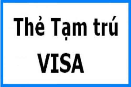 cấp lại thẻ tạm trú cho người lao động