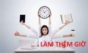 làm thêm giờ với người làm trong tổ chức cơ yếu