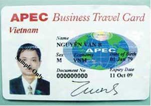 đề nghị cấp thẻ ABTC cho doanh nhân APEC