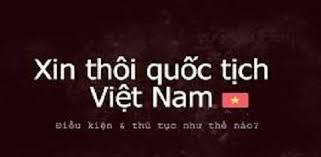 Tải mẫu đơn xin thôi quốc tịch Việt Nam