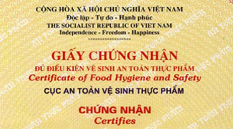 Dịch vụ tư vấn làm Giấy phép vệ sinh an toàn thực phẩm tại Hà Nội