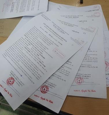 hồ sơ công chứng