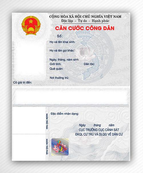 Cần giấy tờ gì để làm thẻ căn cước công dân