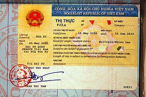 Tờ khai đề nghị cấp thị thực Việt Nam