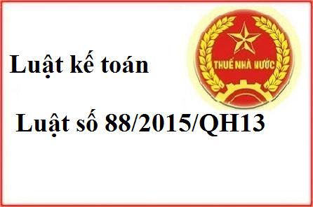 Tải Luật kế toán 2015