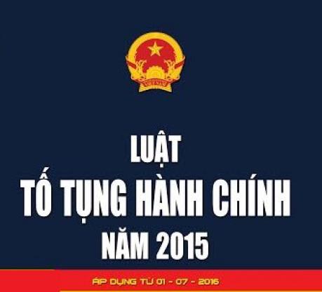 Tải Luật Tố tụng hành chính năm 2015 theo pháp luật hiện hành