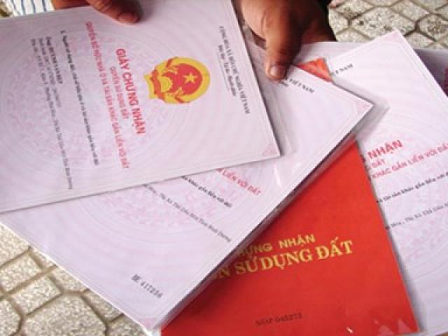 Cấp giấy chứng nhận cho diện tích đất tăng thêm