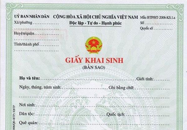 Quy định của pháp luật về cấp bản sao giấy khai sinh