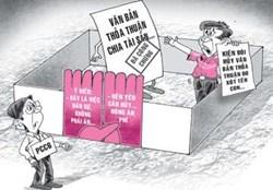 Thủ tục phân chia quyền sử dụng đất