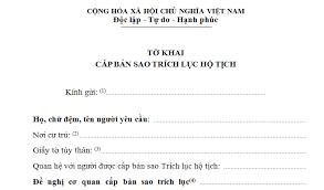 Hướng dẫn viết đơn xin trích lục giấy khai sinh