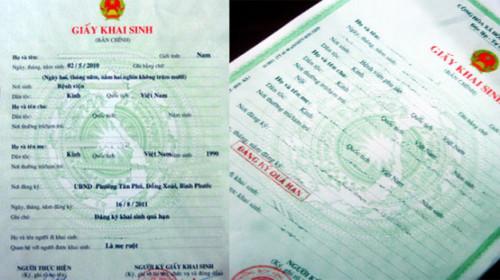 Cách ghi nơi sinh trong giấy khai sinh theo quy định của pháp luật hiện hành