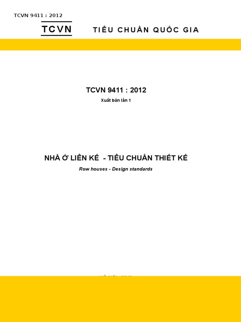 Tải tiêu chuẩn thiết kế nhà ở liền kề TCVN 9411:2012