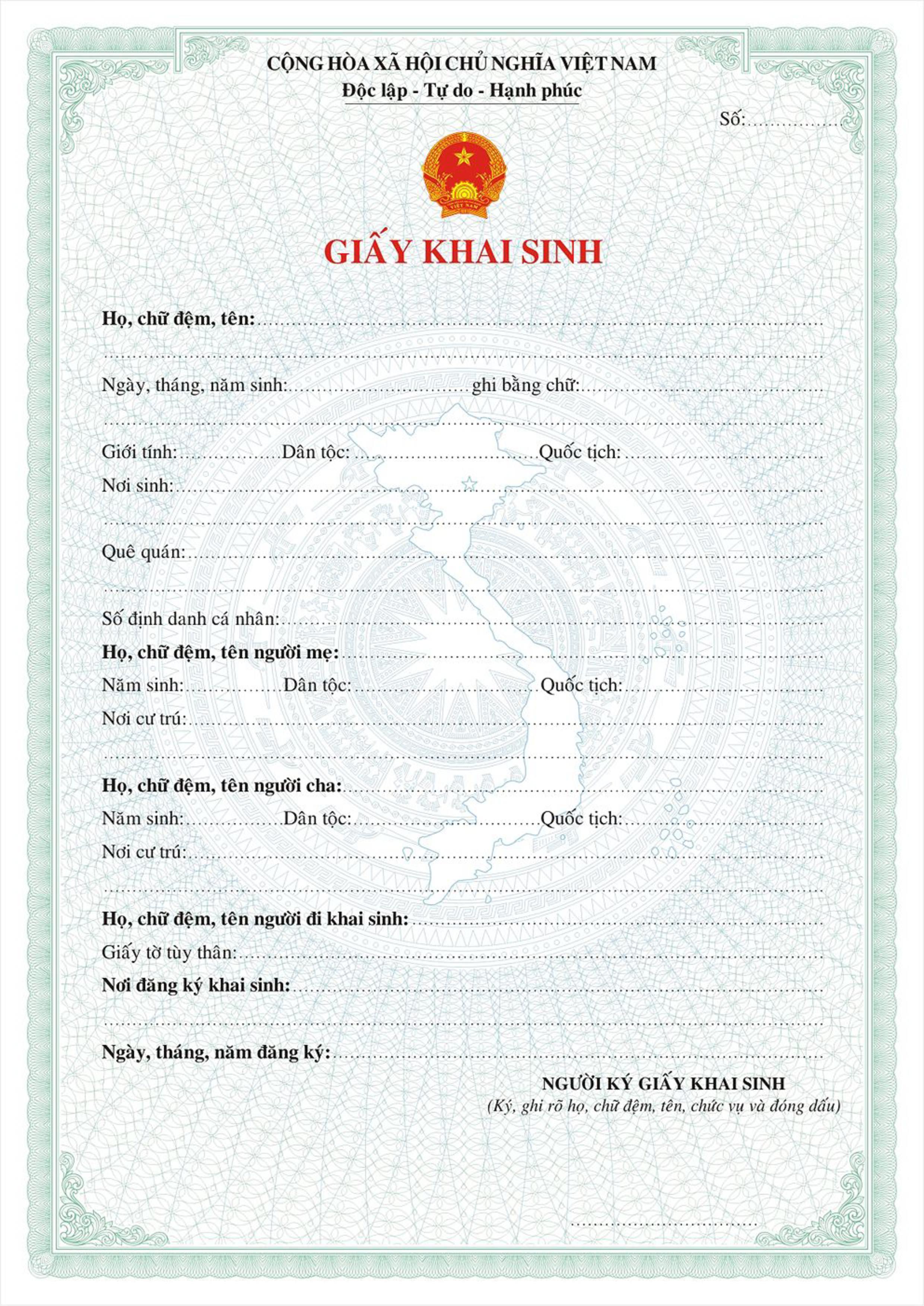 Cách ghi ngày tháng năm sinh trong giấy khai sinh theo quy định pháp luật