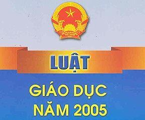 Tải luật giáo dục năm 2005 sửa đổi bổ sung năm 2009