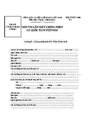 Xác nhận có quốc tịch Việt Nam