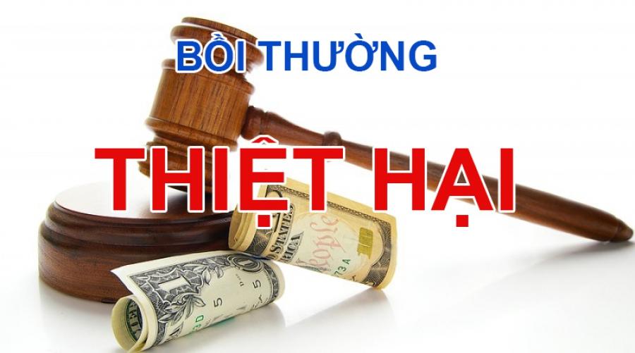 Bồi thường thiệt hại theo quy định pháp luật hiện hành