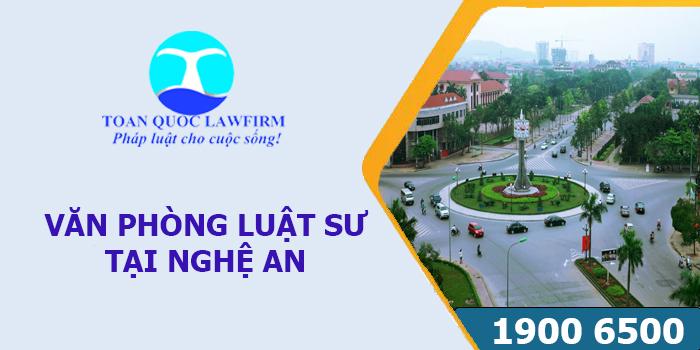 Văn phòng luật sư tại Nghệ An tư vấn luật miễn phí
