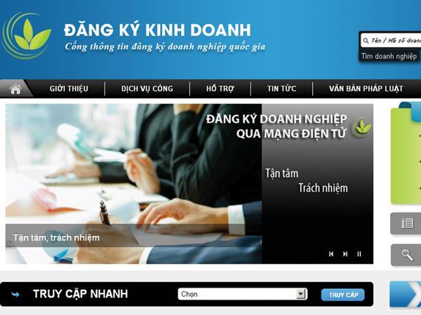 Thay đổi đăng ký kinh doanh qua mạng