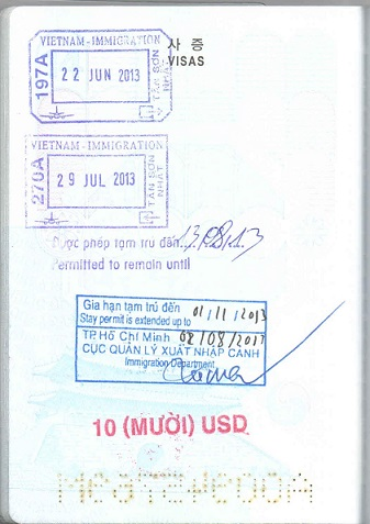 Gia hạn tạm trú cho người nước ngoài tại Việt Nam