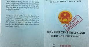 Thủ tục cấp giấy phép xuất nhập cảnh