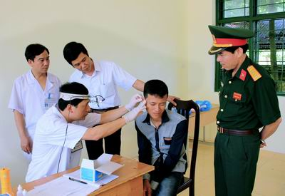 Tiêu chí sức khỏe trong Luật nghĩa vụ quân sự