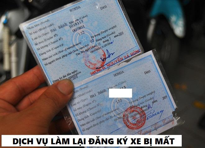 cấp lại đăng ký xe bị mất cho người nước ngoài