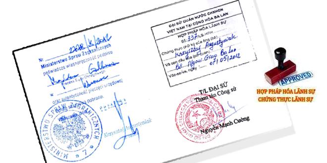 Trình tự thủ tục hợp pháp hóa lãnh sự giấy tờ