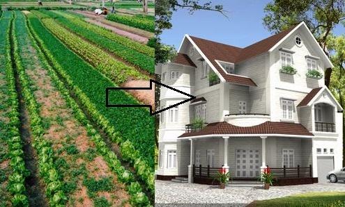Tính tiền chuyển mục đích sử dụng đất