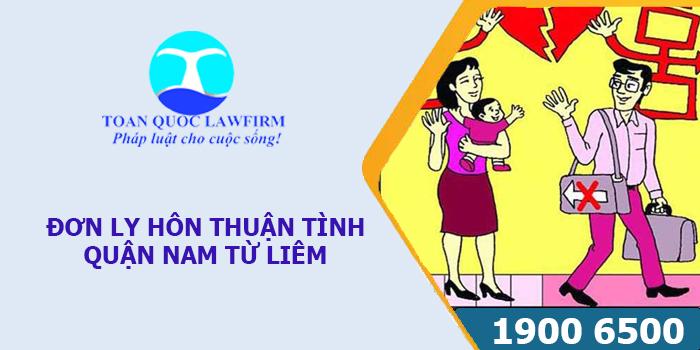 Tải mẫu đơn thuận tình ly hôn quận Nam Từ Liêm