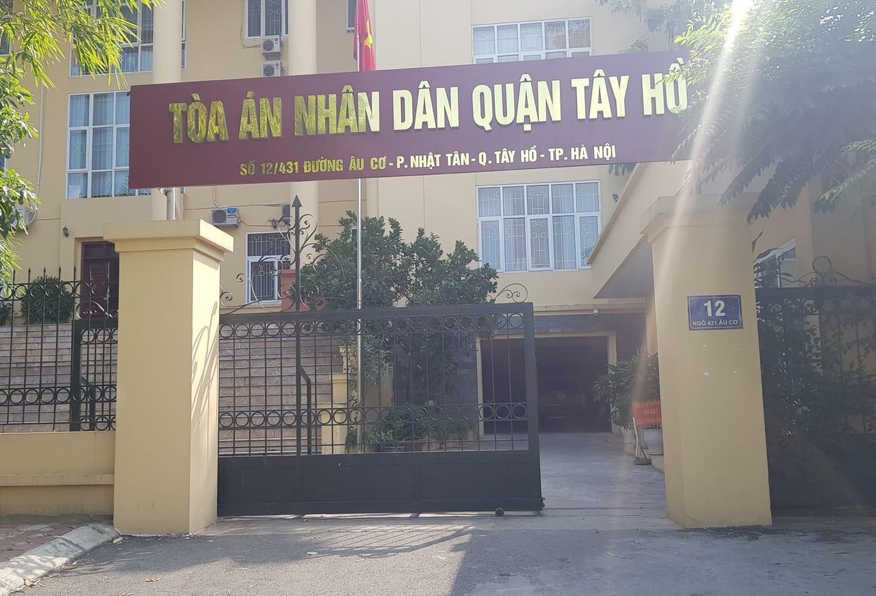 Địa chỉ Tòa án nhân dân quận Tây Hồ