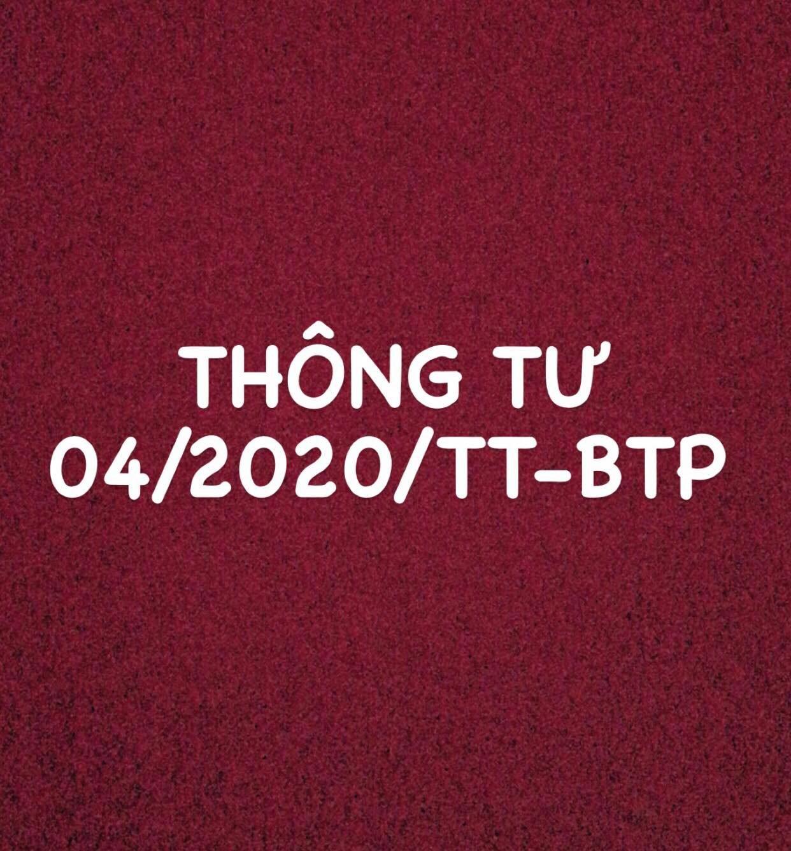 Tải thông tư 04/2020/TT-BTP về Luật hộ tịch