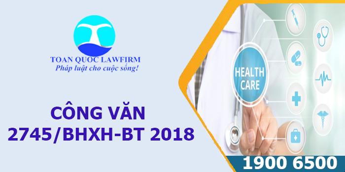 Công văn 2745/BHXH-BT 2018 về thu cấp thẻ BHYT