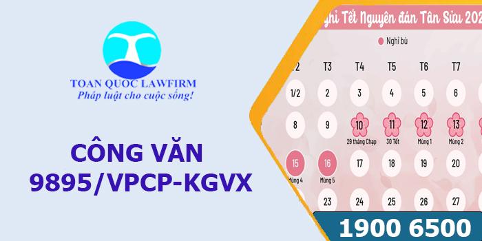 Công văn 9895/VPCP-KGVX