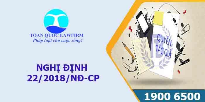Nghị định 22/2018/NĐ-CP chi tiết quyền tác giả, quyền liên quan