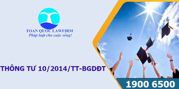 Tải Thông tư 10/2014/TT-BGDĐT về quản lý công dân Việt Nam học tập ở nước ngoài