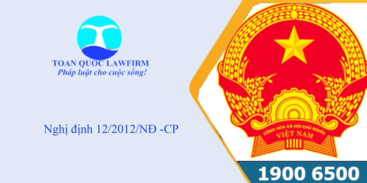 Nghị định 12/2012/NĐ-CP
