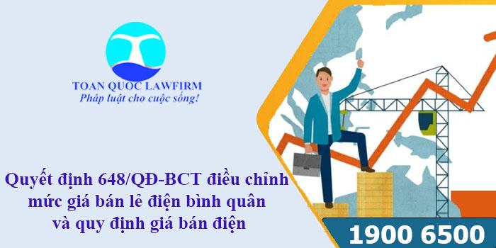 Nội dung Quyết định 648/QĐ-BCT