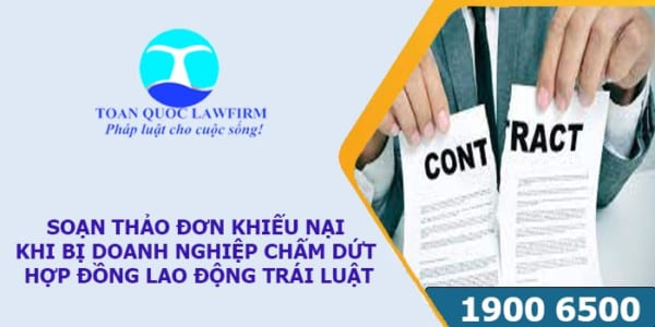Soạn thảo đơn khiếu nại khi bị doanh nghiệp chấm dứt hợp đồng trái luật