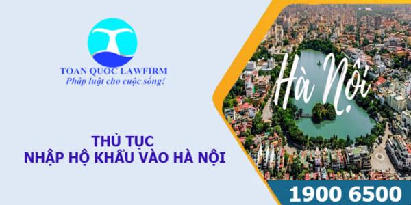 Thủ tục nhập hộ khẩu vào Hà Nội
