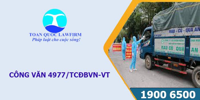 Công văn 4977/TCĐBVN-VT về xây dựng luồng xanh vận tải ưu tiên cho phương tiện vận chuyển hàng hóa