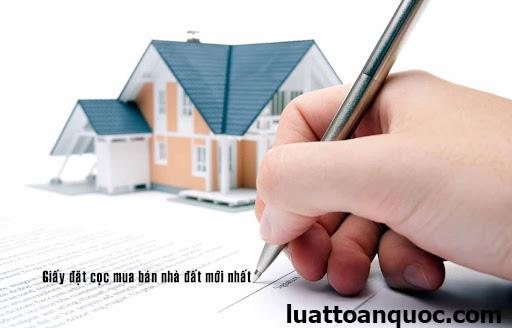 Giấy đặt cọc mua đất viết tay